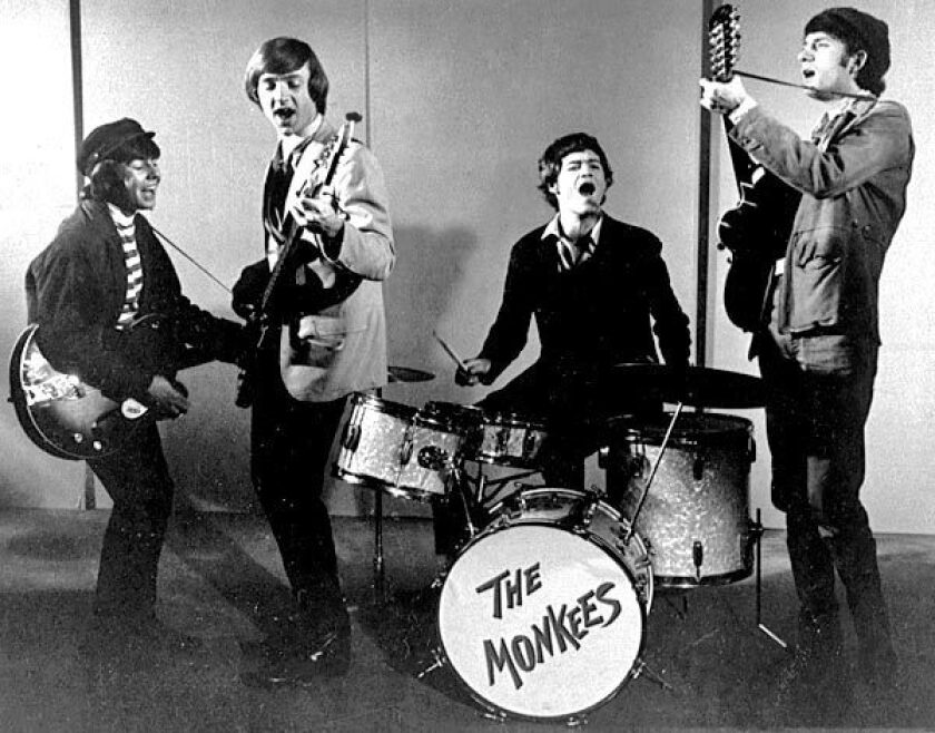 The Monkees in 1966. From left, Davy Jones, Peter Tork, Micky Dolenz and Mike Nesmith. Jones, the lead singer on several of the group's hits, died Wednesday.