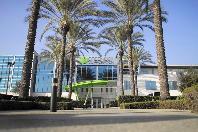 Unlike Green Dot, which boasts that it invented the prepaid debit card industry, most new prepaid firms are calling themselves technology companies, perhaps partly because of the stigma that comes along with the prepaid industry. Above, Green Dot's Pasadena offices.