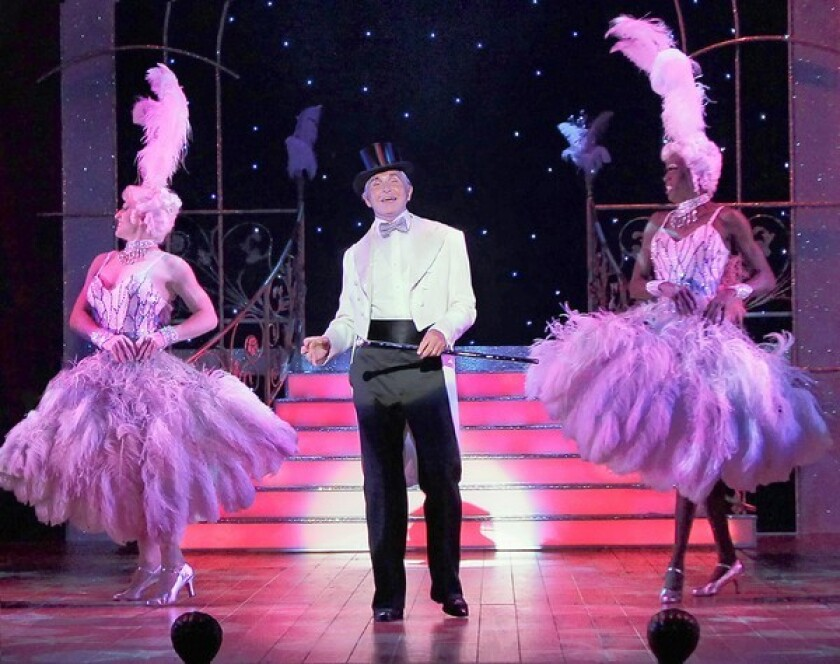 """George Hamilton stars in the national tour of """"La Cage aux Folles,"""" which comes to the Hippodrome."""