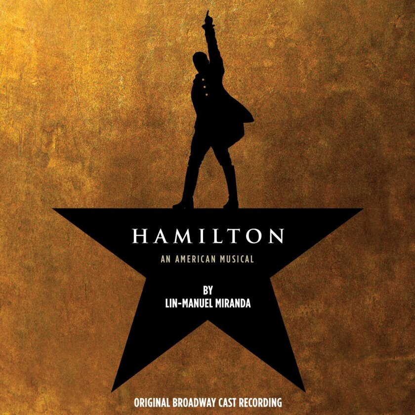 "This CD cover image released by Atlantic Records shows the Broadway cast album for ""Hamilton: An American Musical."" Atlantic Records said last week that ""Hamilton"" has so far sold over 54,000 albums, had more than 16 million songs streamed and become the highest debuting cast recording on the Billb"