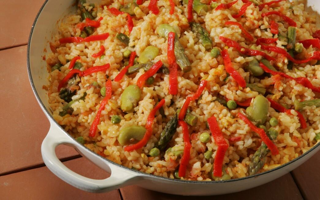 Sofregit-vegetable rice