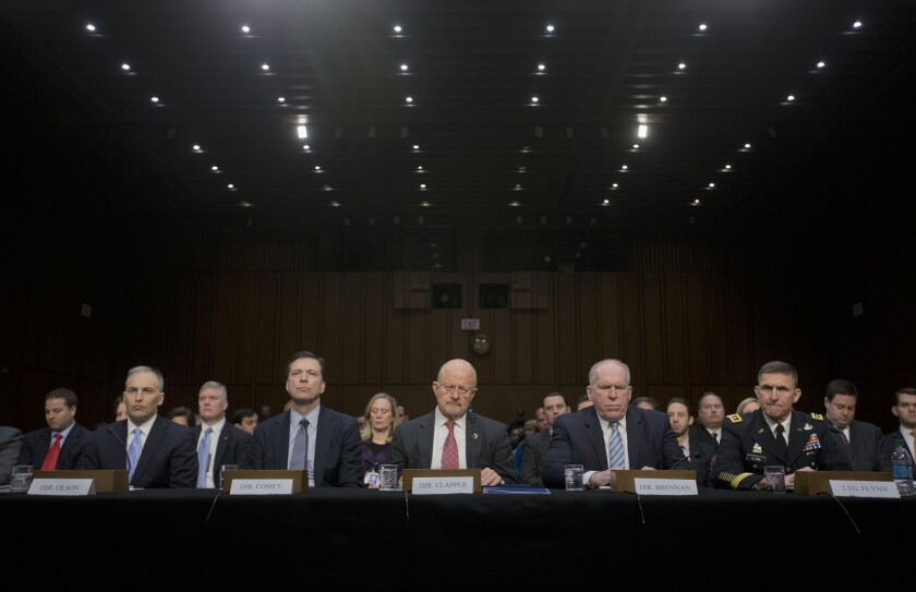Intelligence officials Senate hearing
