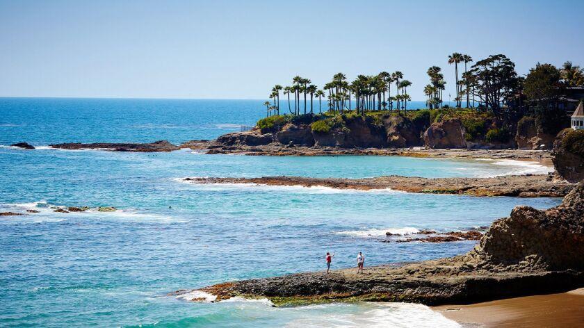 A view of the coast from the Laguna Beach House in Laguna Beach, California.