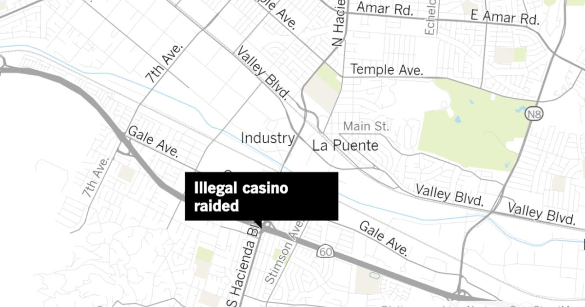 Παράνομο καζίνο ανακαλύφθηκε σε Hacienda Heights, αρχές πω