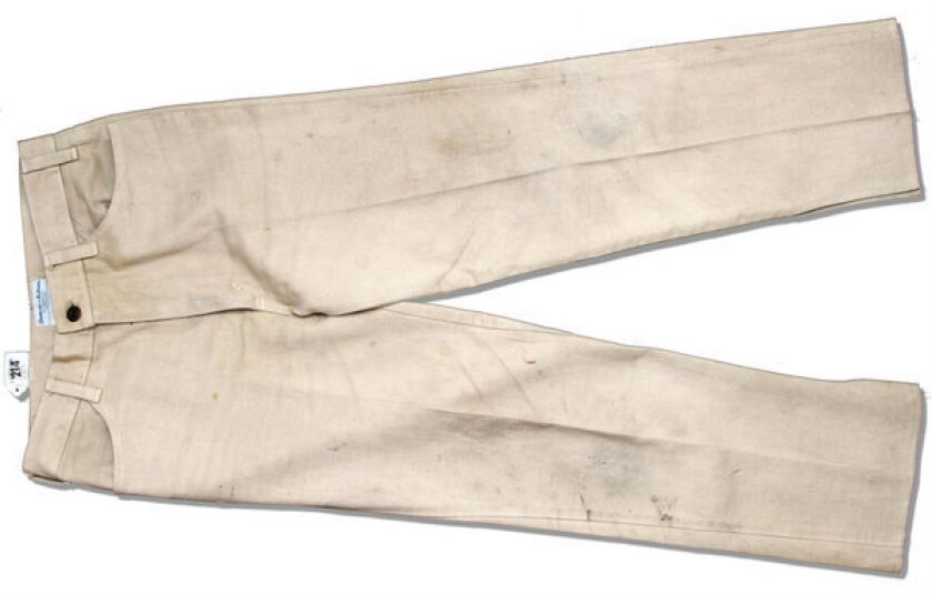 """A pair of Levi's jeans worn by Mark Hamill in the 1977 film """"Star Wars"""" failed to make the reserve price at a recent online auction and so did not sell. The Nate D. Sanders auction house had hoped they'd fetch as much as $100,000."""