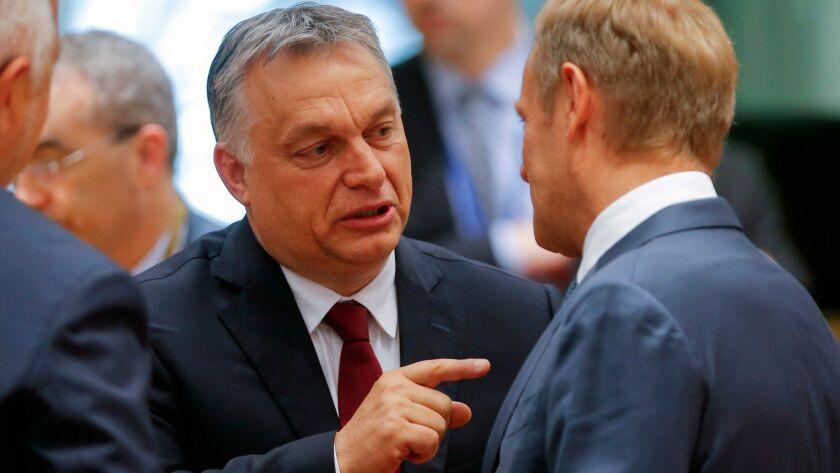 EU leaders meet for European Council summit, Brussels, Belgium - 28 Jun 2018