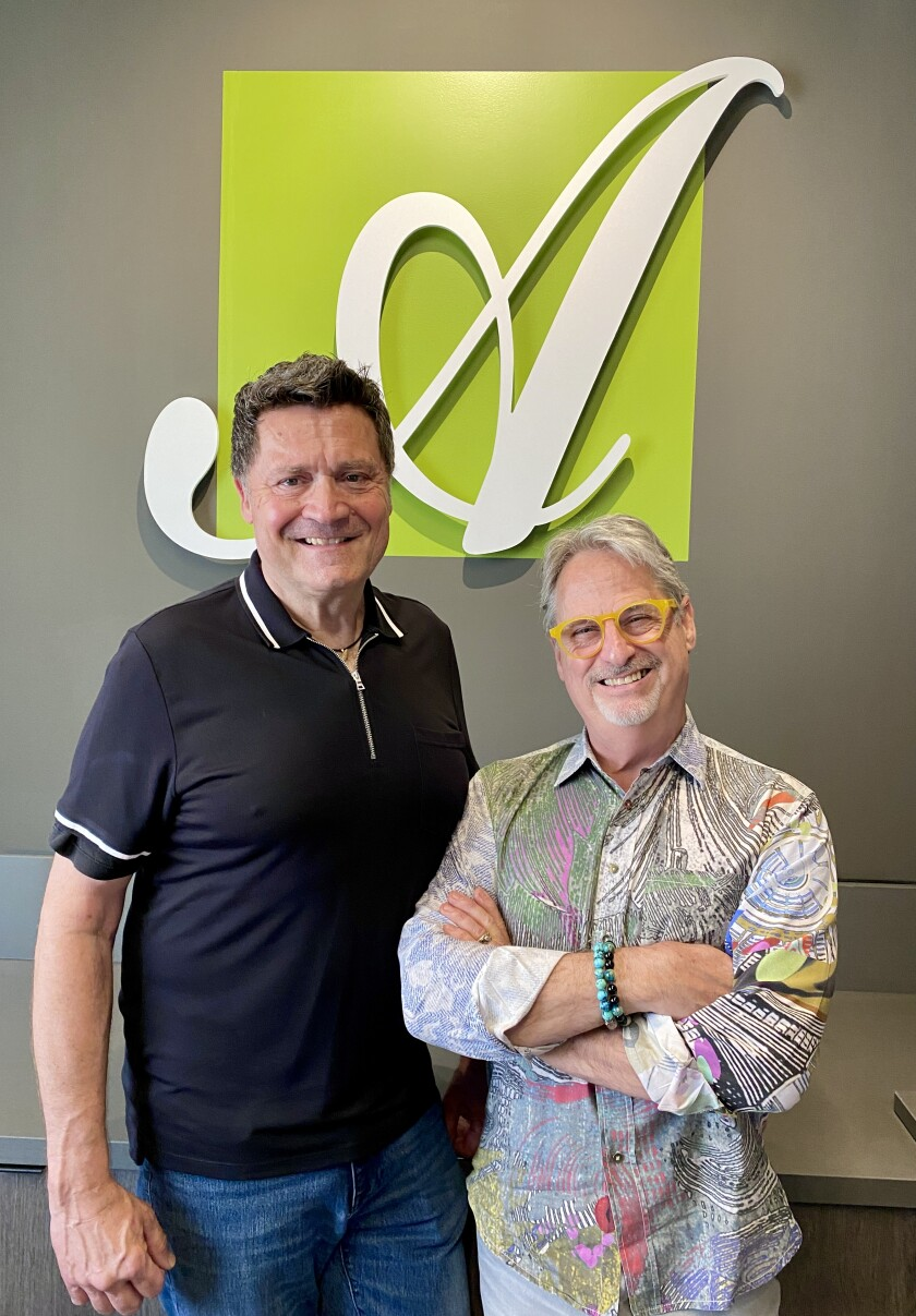 Adelaide's owners Jerry Parent (left) and Larry Anhorn
