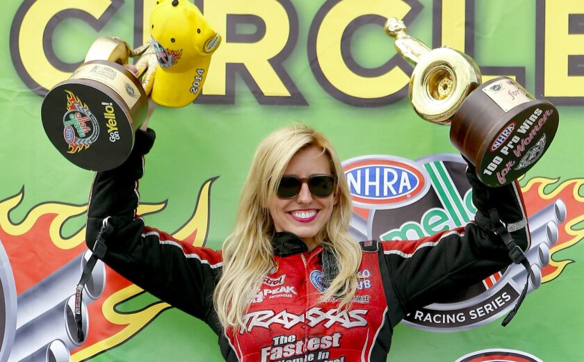 Courtney Force races to 100th female NHRA win - The San