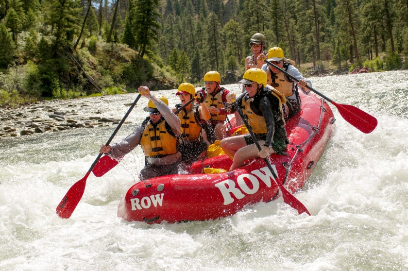 Rafting Middle Fork of the Salmon River in Idaho through ROW Adventures.