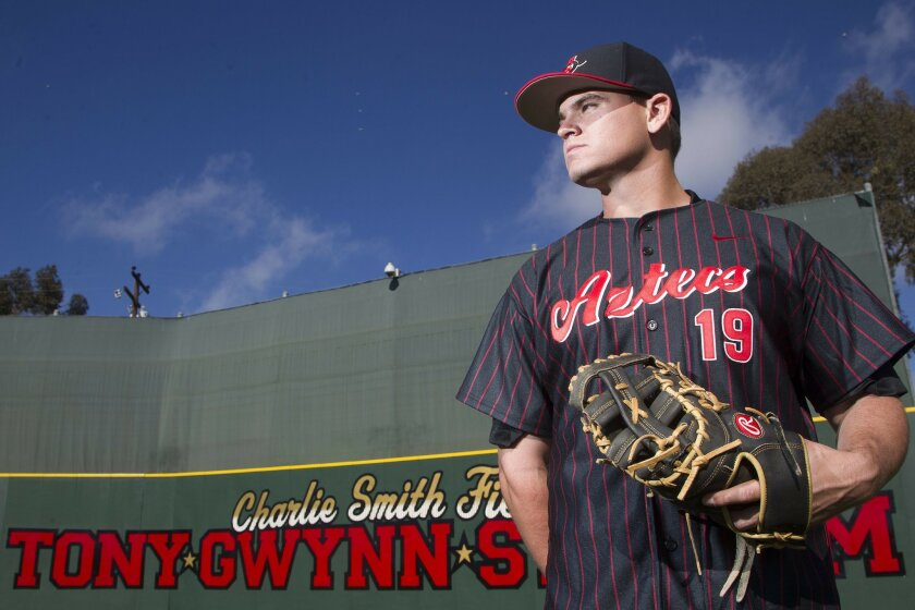 San Diego State baseball team is honoring the memory of Tony Gwynn by selecting one player to wear Gwynn's No. 19 jersey for a period of time. The first player to wear No. 19 will be Ryan Muno.