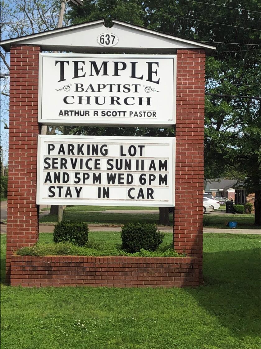 Virus Outbreak Drive-In Church
