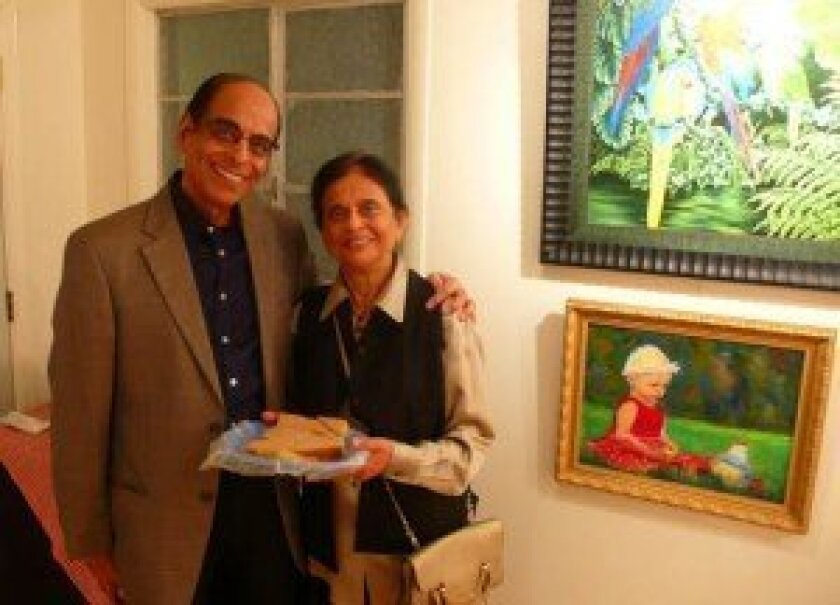 Doctors Nareen and Nalin Doshi,  new members of the La Jolla Art Association