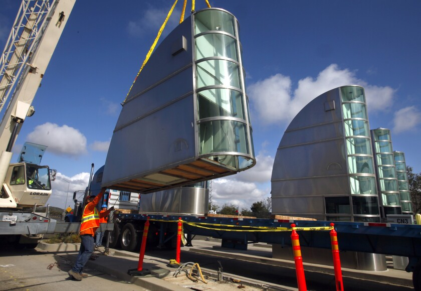 Toll booths are removed as the Catalina View Mainline Toll Plaza on Route 73 in Irvine is dismantled in March.