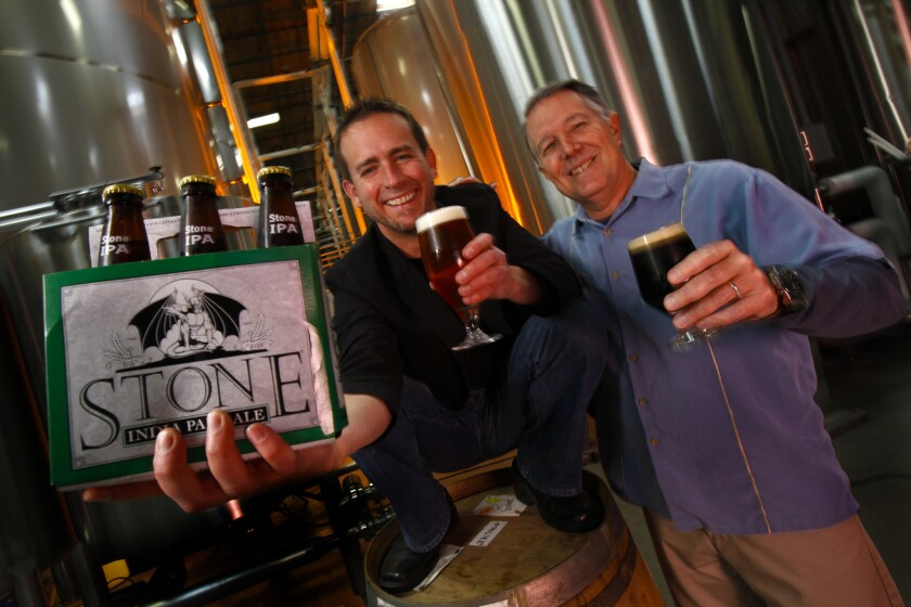 Greg Koch and Steve Wagner teamed to make the Stone Brewing Company in Escondido.