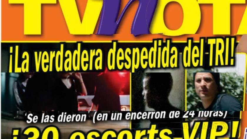La revista TVNotas reventó el escándalo de la fiesta antes del viaje a Europa.