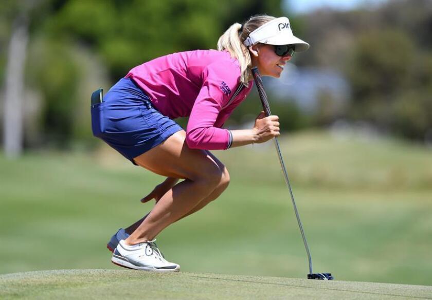 En la imagen un registro de la golfista sueca Pernilla Lindberg. EFE/Archivo