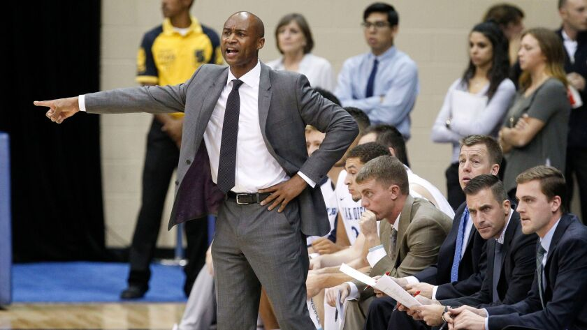 Lamont Smith is entering his second season as coach of the USD men's basketball team.