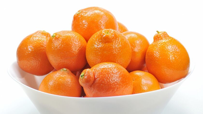 Tangelos are sweet, juicy and virtually seed-free.