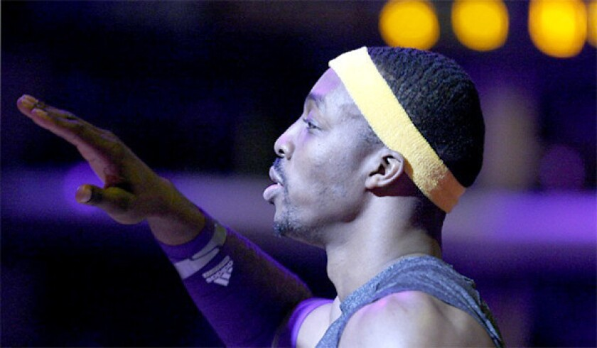 The Lakers made their pitch to free agent Dwight Howard on Tuesday, where the organization told the center of its plans to build around the 6-foot-11 center.