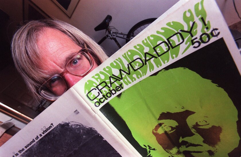 Pioneering rock music critic and author Paul Williams, a longtime San Diegan, died Wednesday in North County. Crawdaddy!, the magazine he co-founded in 1966 at the age of 17, pre-dated Rolling Stone by a year as the first American publication to treat rock 'n' roll as an art form worthy of serious coisideration and analysis.