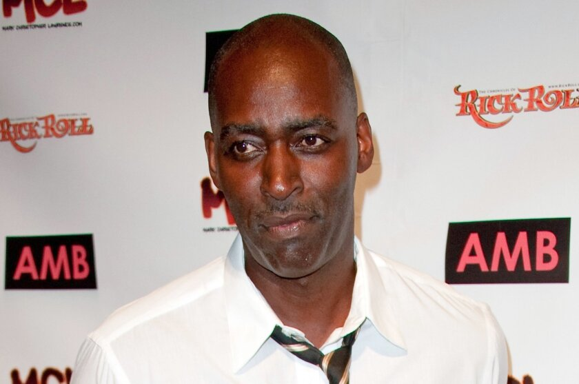 FILE - In this Oct. 6, 2012 file photo, actor Michael Jace appears in Los Angeles. Jace's 10-year-old son testified, Wednesday, May 25, 2016, that he heard his father tell his mother that she should run to heaven before shooting her twice. The actor best known for playing a police officer on the FX