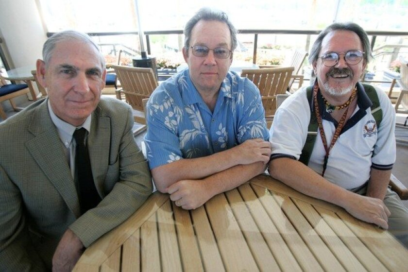 Peter Hayman, left, Jack Estes and Bob Gregory met in San Diego recently to recall their time together in Vietnam.