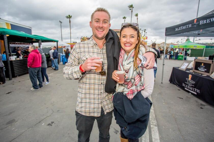 Craft beer, cider and food trucks brought bundled-up San Diegans to the Del Mar Racetrack on Saturday, Nov. 26, 2016. (Bradley Schweit)
