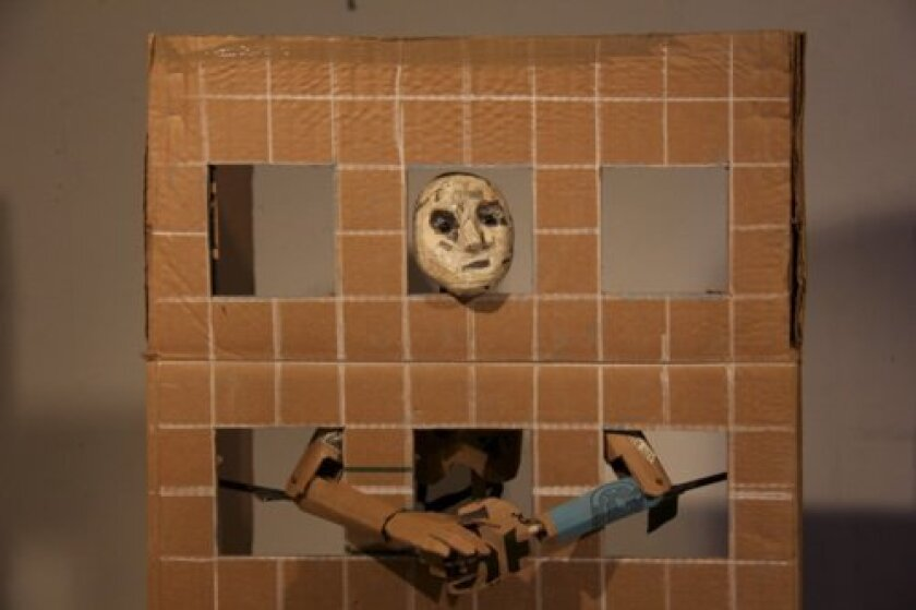 One of the puppets in 'Paper Cities' Courtesy