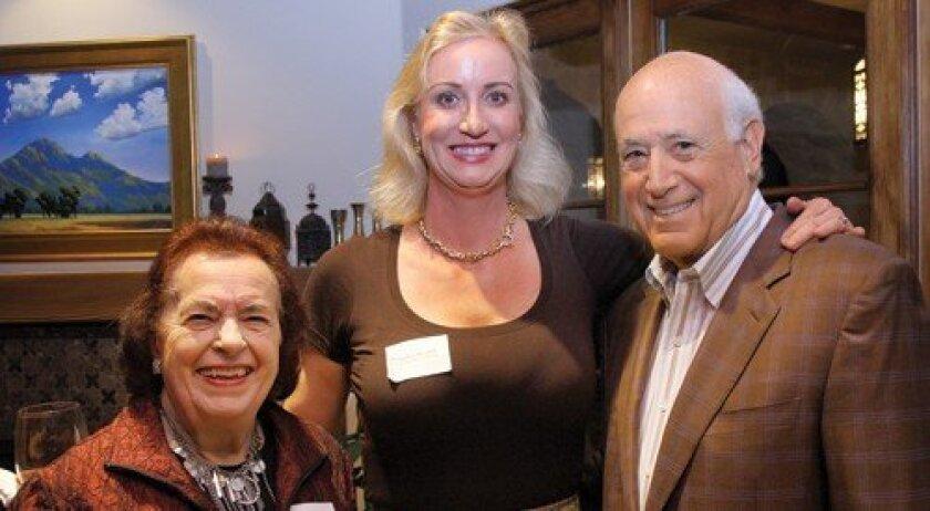 Nan Werner, host Sophia Alsadek, guest speaker Walter Green (Photo: Jon Clark)