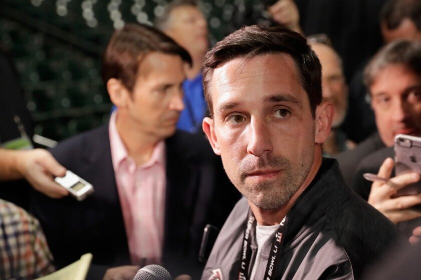49ers coach Kyle Shanahan says he's not haunted by what happened with the Falcons in their Super Bowl loss to the Patriots.