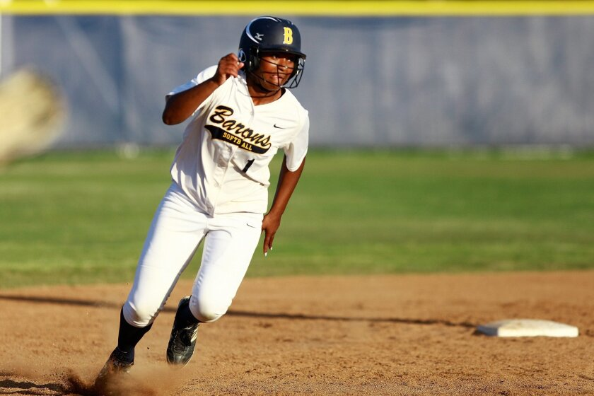 Aaliyah Jordan runs the bases for Bonita Vista, which is making its fourth straight trip to the finals.
