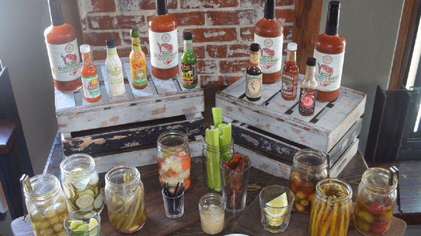 Quad Alehouse and Gaslamp Tavern Bloody Mary bar.