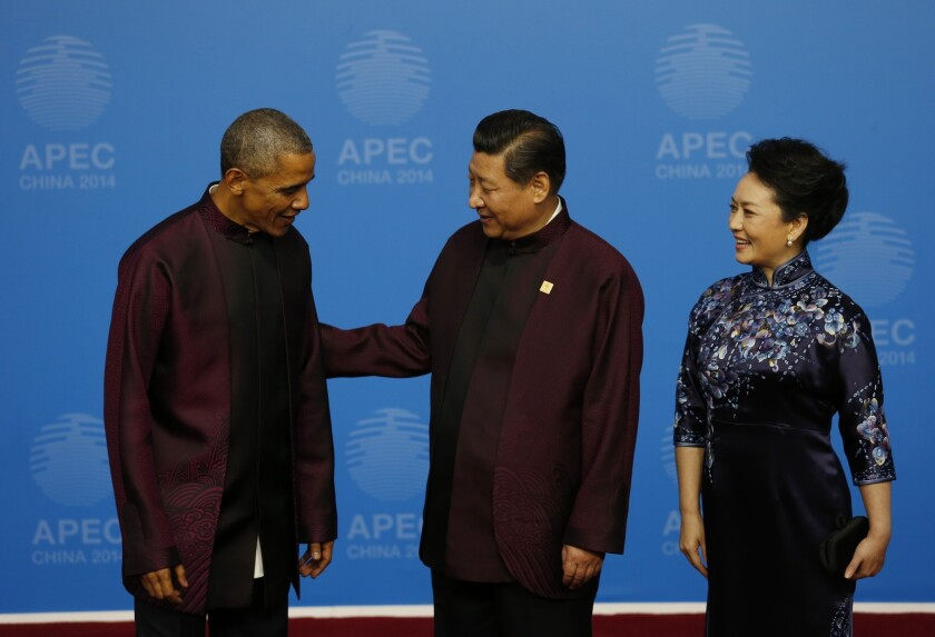 Barack Obama, Xi Jinping, Peng Liyuan