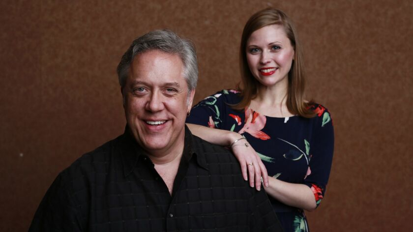 """Stephen Powell, left, is playing the title character Rigoletto and Alisa Jordheim plays Gilda in the San Diego Opera's production of Giuseppe Verdi's """"Rigoletto,"""" which opens Feb. 2 at the San Diego Civic Theatre."""