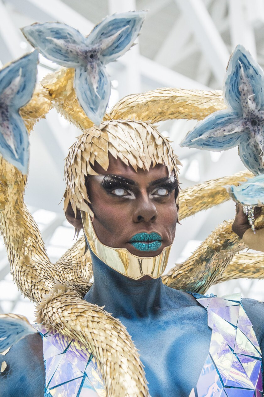 LOS ANGELES, CA. - May 12, 2018: Love Masisi poses for a portrait during RuPaul's DragCon LA at the