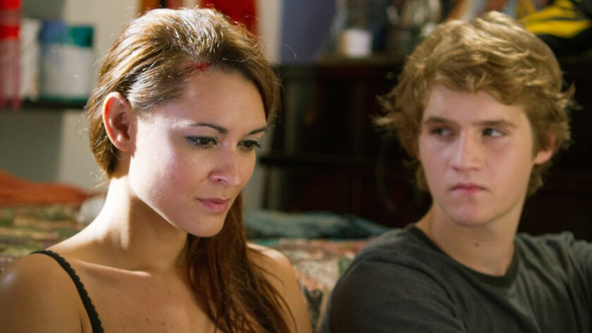 "(L-R)- Elle LaMont and Dalton Gray in a scene from the film ""Flay."" Credit: Phame Factory"