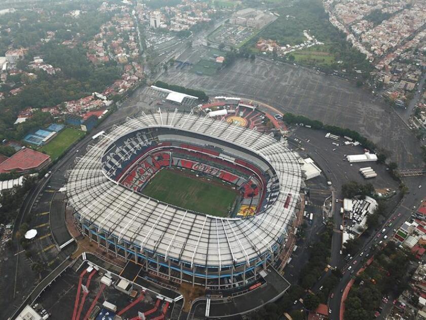 Vista general desde un drone del Estadio Azteca de Ciudad de México. EFE/Archivo