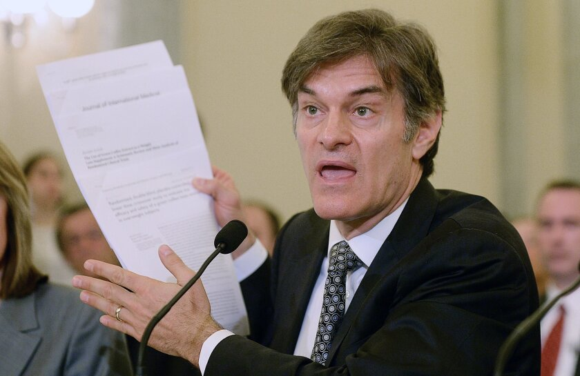 "Mehmet Oz, host of ""The Dr. Oz Show,"" defended recommending unproven weight loss products at a Senate hearing."