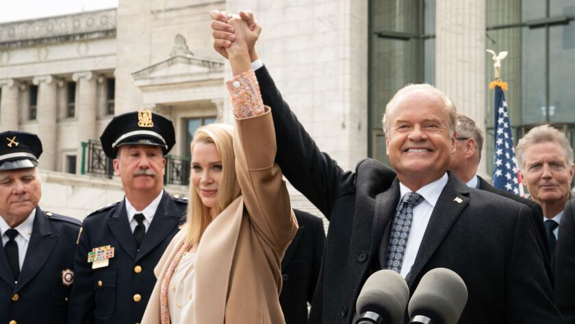 """PROVEN INNOCENT: L-R: Guest star Laurie Holden and Kelsey Grammer in the """"Pilot"""" series premiere epi"""