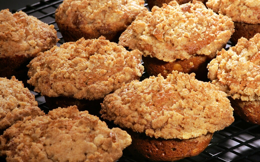 Mesquite apple muffins with streusel topping