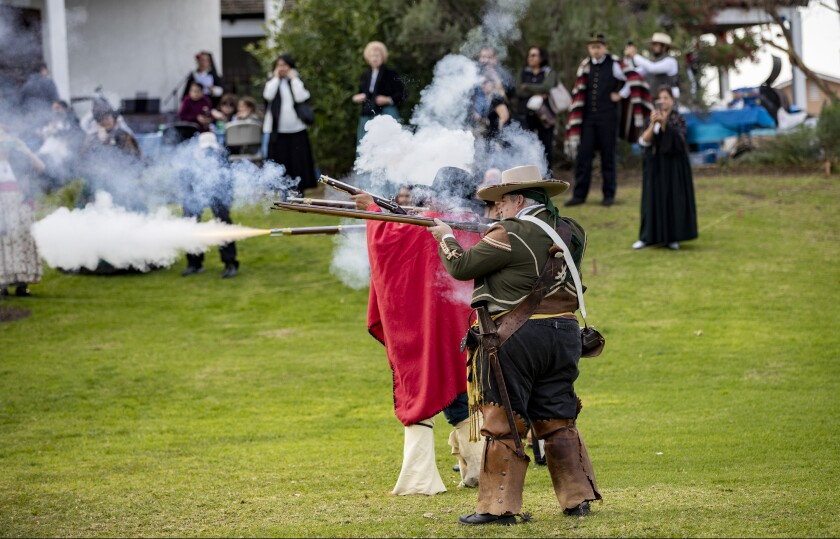 Reenactment of the Battle of Rio San San Gabriel