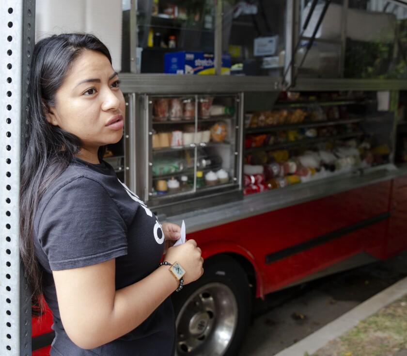 Lunch truck operator Jennifer Ramirez