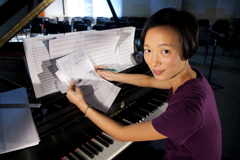 UCSD doctoral student, composer Yiheng Yvonne Wu, whose new work will be premiered by the La Jolla Symphony.