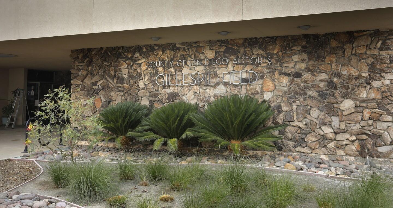 EL CAJON CA: April 7, 2018: Generic photo of front of Gillespie Field terminal building. Photo by Howard Lipin/San Diego Union-Tribune/Mandatory Credit: HOWARD LIPIN SAN DIEGO UNION-TRIBUNE/ZUMA PRESS