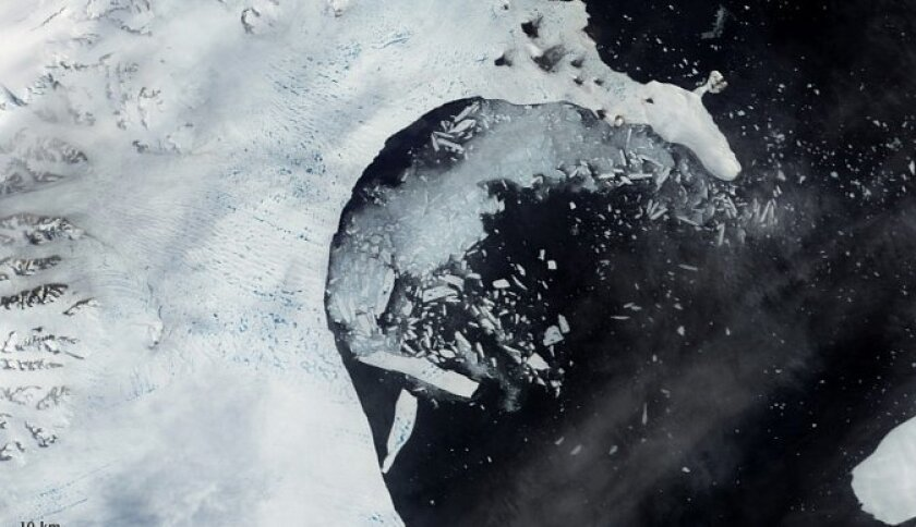 The researchers are focused on the Larsen Ice Shelf, much of which collapsed during a two month period in 2002.