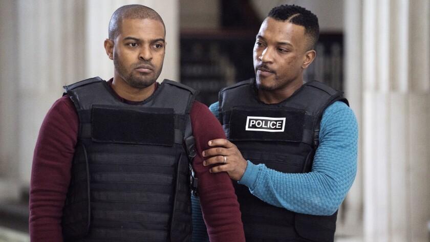 "Noel Clarke, left, and Ashley Walters in ""Bulletproof"" on the CW."