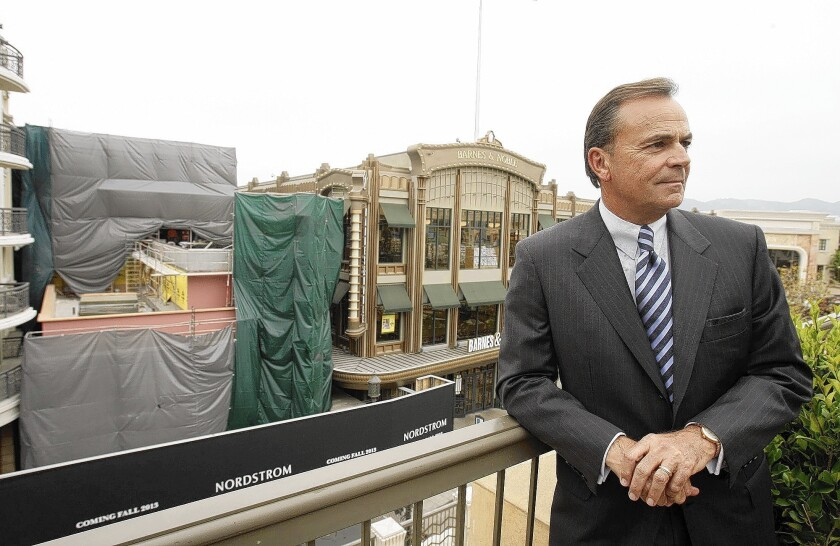 Developer Rick Caruso's firm, Caruso Affiliated, had several projects on hold during the recession but now wants to double the size of its construction department and is looking to hire seasoned professionals.