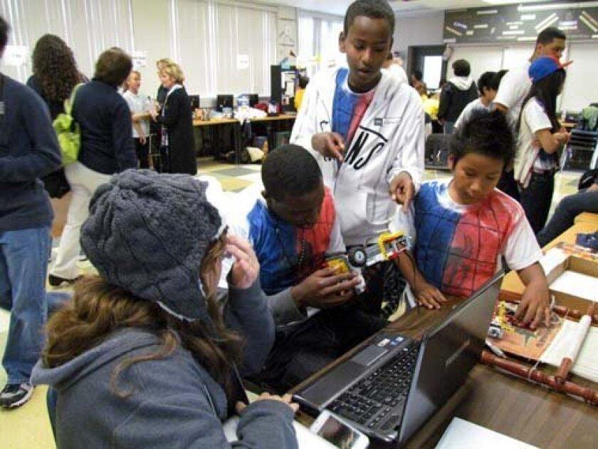 Preuss team members check their design.