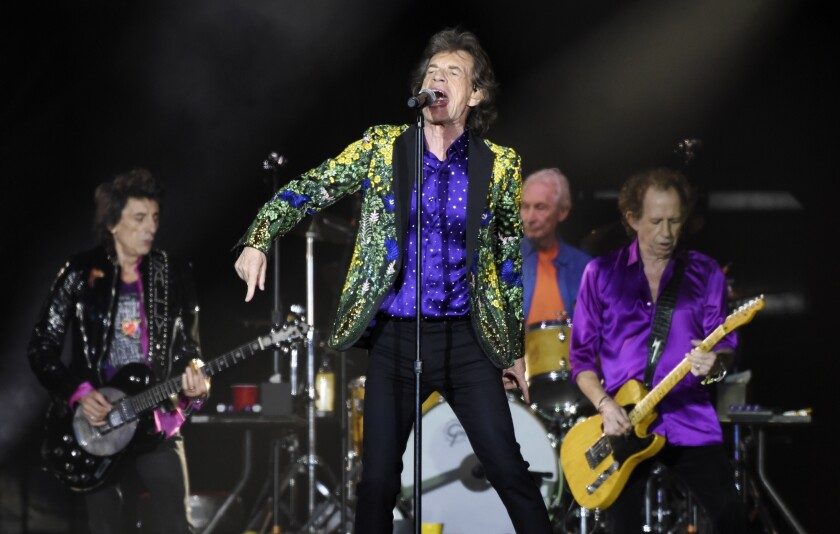 The Rolling Stones' sold-out Thursday concert at the Rose Bowl was preceded by an announcement that NASA has named a stone on Mars after the world's most famous still-active rock band.