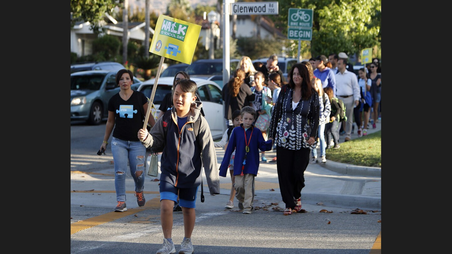 Photo Gallery: Glendale Unified School District students participate in International Walk to School Day
